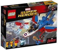Купить LEGO Super Heroes Конструктор Воздушная погоня Капитана Америка 76076