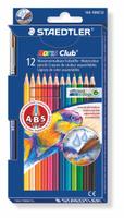 Купить Staedtler Набор акварельных карандашей Noris Club с кисточкой 12 цветов