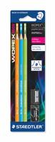 Купить Staedtler Набор чернографитовых карандашей Wopex NEON HB 3 шт 180FSBK3-2