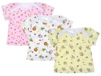 Купить Футболка для девочки Фреш Стайл, цвет: желтый, розовый, белый, 3 шт. 33-235д. Размер 74, Одежда для новорожденных