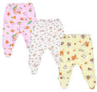 Купить Ползунки для девочки Фреш Стайл, цвет: розовый, желтый, белый, 3 шт. 33-506д. Размер 80, Одежда для новорожденных