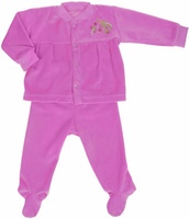 Купить Комплект для девочки Клякса: кофточка, ползунки, цвет: розовый. 53-5615. Размер 80, Одежда для новорожденных