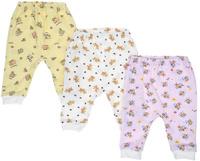 Купить Штанишки для девочки Фреш Стайл, цвет: розовый, белый, желтый, 3 шт. 33-507д. Размер 74, Одежда для новорожденных