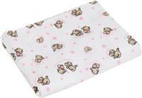 Купить Чудесные одежки Детская пеленка Зайчик 120 х 90 см цвет белый розовый