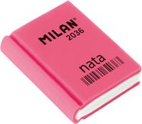 Купить Milan Ластик Nata 2036 прямоугольный цвет розовый, Чертежные принадлежности