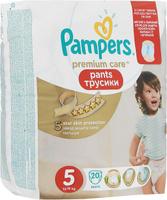 Купить Pampers Pants Трусики Premium Care 12-18 кг (размер 5) 20 шт, Подгузники и пеленки