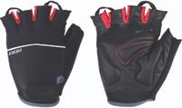 Купить Перчатки велосипедные BBB Omnium , цвет: черный, красный. Размер L, Велоперчатки