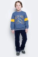 Купить Свитшот для мальчика КотМарКот, цвет: синий меланж. 20716. Размер 110, Одежда для мальчиков