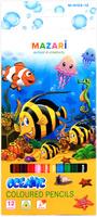 Купить Mazari Набор цветных карандашей Oceanic 12 цветов, Карандаши