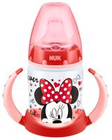 Купить Бутылочка-поильник NUK Дисней Микки , с силиконовым носиком, от 6 до 18 месяцев, цвет: красный, 150 мл