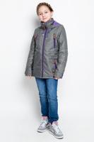 Купить Куртка для девочки atPlay!, цвет: серый. 1jk713. Размер 134, 9-10 лет, Одежда для девочек
