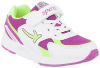 Купить Кроссовки для девочки Kapika, цвет: белый, фуксия, салатовый. 73282-2. Размер 32, Обувь для девочек