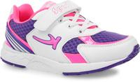 Купить Кроссовки для девочки Kapika, цвет: белый, фиолетовый, фуксия. 73282-1. Размер 32, Обувь для девочек
