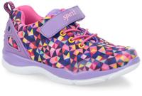 Купить Кроссовки для девочки Kapika, цвет: сиреневый, мультиколор. 73294-1. Размер 35, Обувь для девочек