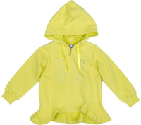 Купить Толстовка для девочки PlayToday, цвет: светло-желтый. 172113. Размер 98, Одежда для девочек