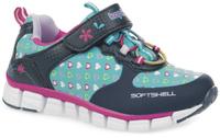 Купить Кроссовки для девочки Kapika, цвет: темно-синий, голубой. 72228с-2. Размер 30, Обувь для девочек
