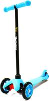 Купить Самокат детский Hubster Mini , трехколесный, цвет: голубой, черный, Самокаты