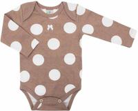Купить Боди для девочек Axiome De Mode, цвет: бежевый горох. 16-8301. Размер 74, 9мес, Одежда для новорожденных