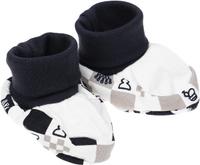 Купить Пинетки Lucky Child, цвет: белый, темно-серый. 29-29ф. Размер 0/12 месяцев, Одежда для новорожденных