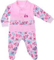 Купить Комплект для девочки Клякса: кофточка, ползунки, цвет: розовый. 37К-5062. Размер 80, Одежда для новорожденных