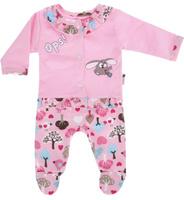 Купить Комплект для девочки Клякса: кофточка, ползунки, цвет: розовый. 21Д-5062. Размер 80, Одежда для новорожденных