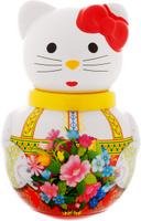 Купить Stellar Неваляшка Кошечка Алина с букетом цветов