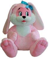 Купить СмолТойс Мягкая игрушка Зайчик цвет розовый 45 см