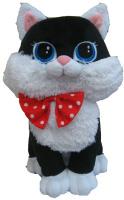 Купить СмолТойс Мягкая игрушка Кошка Люси цвет черный 42 см