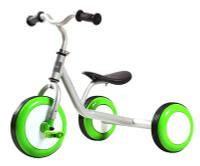 Купить Pitstop Велосипед детский трехколесный цвет серый зеленый