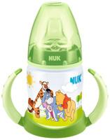 Купить Бутылочка обучающая для питья NUK Дисней. First Choice , с силиконовой насадкой, 150 мл, от 6 месяцев, Поильники