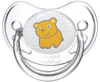 Купить Canpol Babies Пустышка силиконовая ортодонтическая Мишка от 6 до 18 месяцев