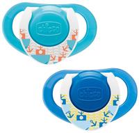 Купить Сhicco Physio Пустышка латексная ортодонтическая Морская от 12 месяцев цвет синий бирюзовый 2 шт, Chicco, Пустышки