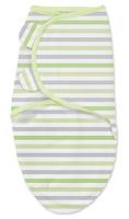 Купить Конверт для новорожденного Summer Infant SwaddleMe на липучке, цвет: салатовый, белый. 76980. Размер S/M, длина 55 см, Одежда для новорожденных