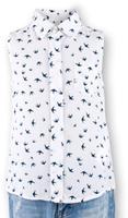 Купить Блузка для девочки Button Blue Main, цвет: белый. 117BBGC22010207. Размер 116, 6 лет, Одежда для девочек