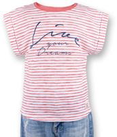 Купить Футболка для девочки Button Blue Main, цвет: коралловый. 117BBGC12022205. Размер 116, 6 лет, Одежда для девочек