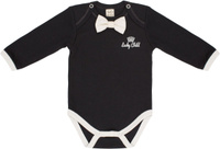 Купить Боди для мальчика Lucky Child Шахматный турнир, цвет: темно-серый. 29-19М. Размер 56/62, Одежда для новорожденных