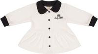Купить Кофта для девочки Lucky Child Шахматный турнир, цвет: молочный, темно-серый. 29-20Д. Размер 62/68, Одежда для новорожденных