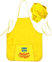 Купить Мульти-Пульти Фартук детский с нарукавниками Приключения Енота цвет желтый, Аксессуары для труда