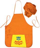 Купить Мульти-Пульти Фартук детский с нарукавниками Приключения Енота цвет оранжевый, Аксессуары для труда