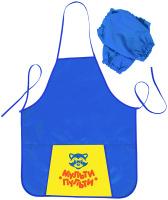 Купить Мульти-Пульти Фартук детский с нарукавниками Приключения Енота цвет синий, Аксессуары для труда