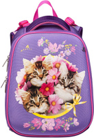 Купить Hatber HD Рюкзак школьный для девочки Ergonomic Милые Котята, Ранцы и рюкзаки