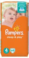Купить Pampers Подгузники Sleep & Play 8-14 кг (размер 4) 68 шт