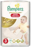 Купить Pampers Premium Care Трусики 6-11 кг (размер 3) 56 шт, Подгузники и пеленки