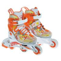 Купить Коньки роликовые Action PW-116 , раздвижные, цвет: оранжевый. Размер 34/37, Ролики