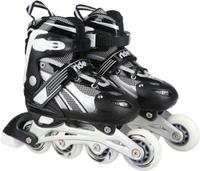 Купить Коньки роликовые Ridex Apache, раздвижные, цвет: черный, серый, белый. УТ-00008105. Размер 38/41, Ролики