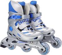 Купить Коньки роликовые Ridex Scout, раздвижные, цвет: серый, голубой, белый. УТ-00008094. Размер 31/34, Ролики