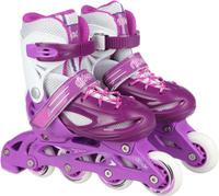 Купить Коньки роликовые Ridex Sonny, раздвижные, цвет: фиолетовый, белый. УТ-00008099. Размер 30/33, Ролики