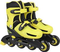 Купить Коньки роликовые Ridex Champion, раздвижные, цвет: черный, желтый. УТ-00008209. Размер 31/34, Ролики