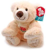 Купить Magic Bear Toys Мягкая игрушка Мишка в свитере цвет свитера молочный 35 см