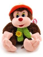 Купить Magic Bear Toys Мягкая игрушка Обезьяна Ульяна в шляпе цвет темно-коричневый 24 см